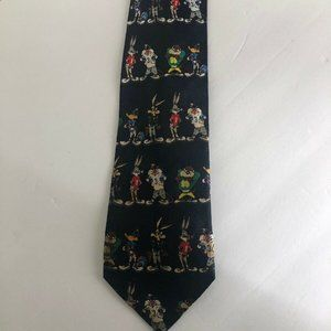 Looney Toons Mens Tie Football Bugs Bunny